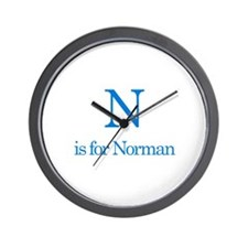 N is for Norman Wall Clock