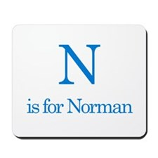 N is for Norman Mousepad
