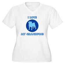 I Love My Grandpug (blue) T-Shirt