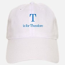 T is for Theodore Baseball Baseball Cap