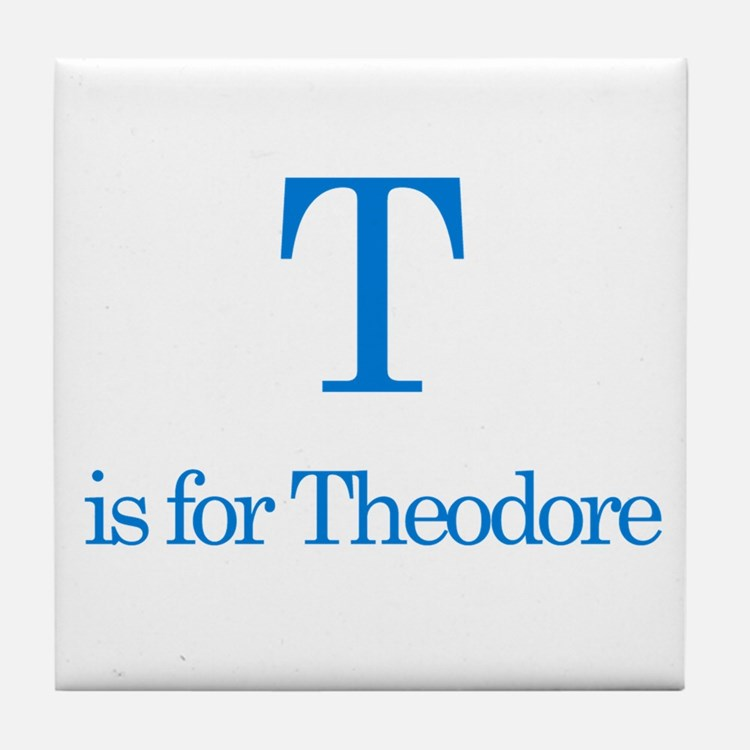 T is for Theodore Tile Coaster