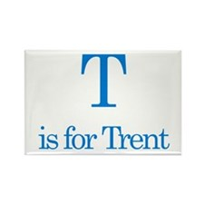 T is for Trent Rectangle Magnet