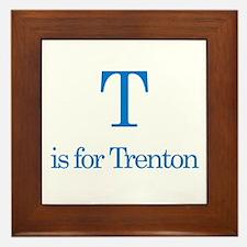 T is for Trenton Framed Tile