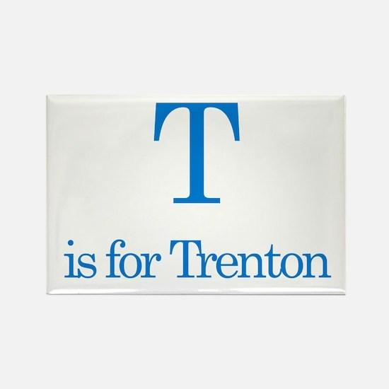 T is for Trenton Rectangle Magnet