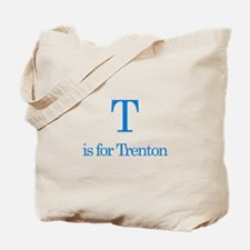 T is for Trenton Tote Bag
