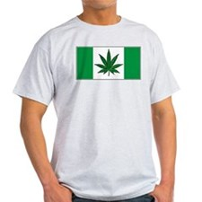 Marijuana Green  Canadian Fla T-Shirt