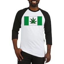 Marijuana Green  Canadian Fla Baseball Jersey