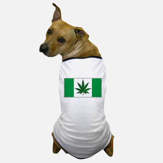 Marijuana Green Canadian Fla Dog T-Shirt