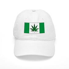Marijuana Green Canadian Fla Baseball Cap