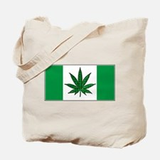 Marijuana Green  Canadian Fla Tote Bag