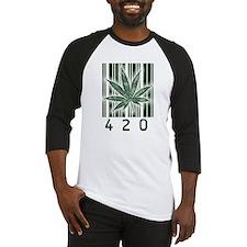 420 Marijuana Power Leaf Baseball Jersey