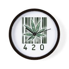 420 Marijuana Power Leaf Wall Clock