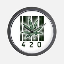 420 Marijuana Power Leaf Wall Clock