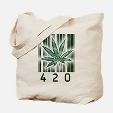 420 Marijuana Power Leaf Tote Bag