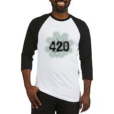 Marijuana Power Leaf 420 Baseball Jersey