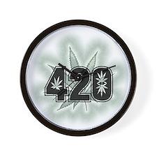 Marijuana Power Leaf 420 Wall Clock