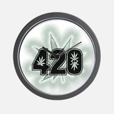 Marijuana Power Leaf 420 Wall Clock