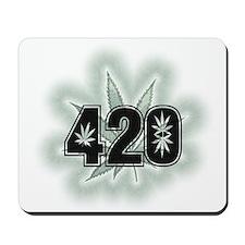 Marijuana Power Leaf 420 Mousepad