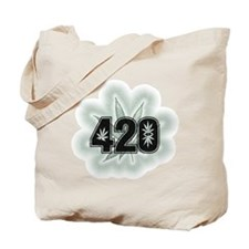 Marijuana Power Leaf 420 Tote Bag