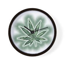 Marijuana Power Leaf Wall Clock