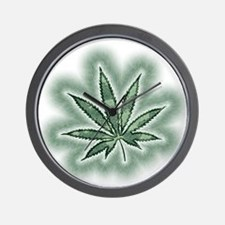 Marijuana Power Leaf Wall Clock