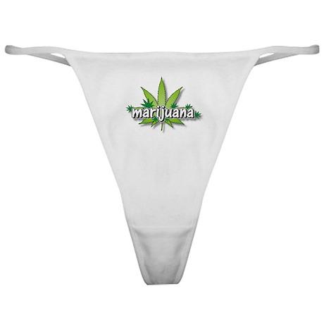 Marijuana leaves Classic Thong