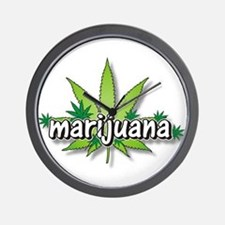 Marijuana leaves Wall Clock