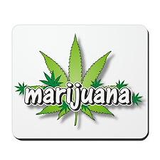 Marijuana leaves Mousepad