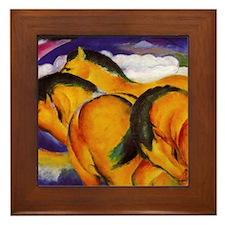 Yellow Horses Framed Tile