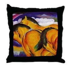 Yellow Horses Throw Pillow