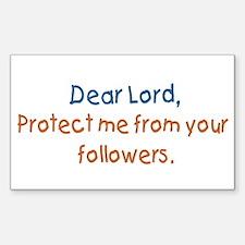"""Dear Lord, Protect Me"" Mini Bumper Decal"