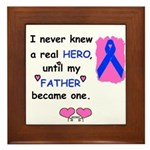 FATHERS A REAL HERO Framed Tile