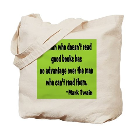 Twain--Good Books Tote Bag