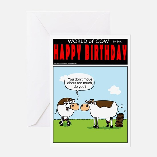 Lazy Cow Greeting Card