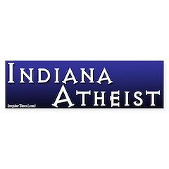 Indiana Atheist Bumper Bumper Sticker