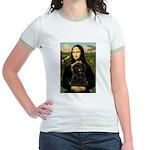 Mona - Affenpinscher3 Jr. Ringer T-Shirt