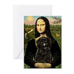 Mona - Affenpinscher3 Greeting Cards (Pk of 10)