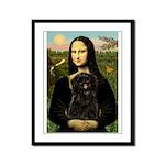 Mona - Affenpinscher3 Framed Panel Print