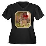 Afghan Hound Women's Plus Size V-Neck Dark T-Shirt