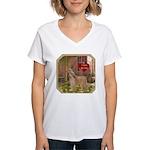 Afghan Hound Women's V-Neck T-Shirt