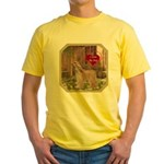 Afghan Hound Yellow T-Shirt