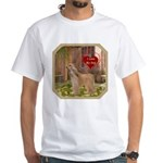 Afghan Hound White T-Shirt