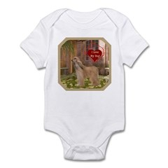 Afghan Hound Infant Bodysuit