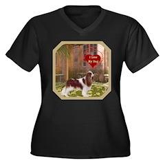 Cavalier King Women's Plus Size V-Neck Dark T-Shir