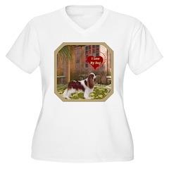 Cavalier King Women's Plus Size V-Neck T-Shirt