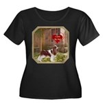 Cavalier King Women's Plus Size Scoop Neck Dark T-