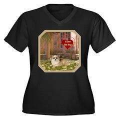 Chihuahua Women's Plus Size V-Neck Dark T-Shirt