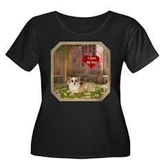 Chihuahua Women's Plus Size Scoop Neck Dark T-Shir