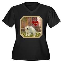 Chow Chow Women's Plus Size V-Neck Dark T-Shirt