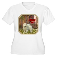 Chow Chow Women's Plus Size V-Neck T-Shirt
